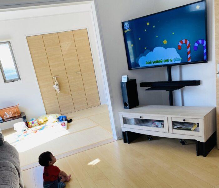 【テレビ対策】子どもの視力低下を防ぐ!ハイタイプのテレビスタンド