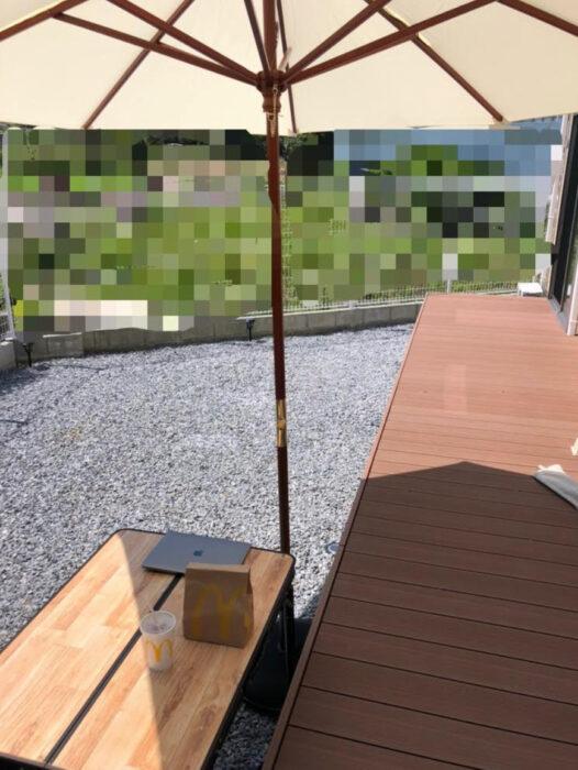 【レビュー】おしゃれなお庭に!3選ガーデンテーブルチェア・パラソル・ソーラーライトを買ってみた!お庭が生まれ変わりました。